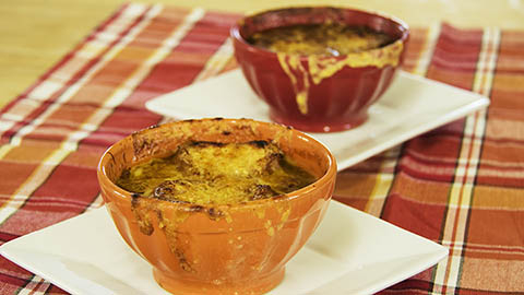Piping hot ultimate french onion soup by The Guy Cooks
