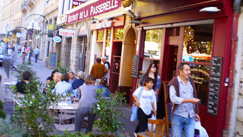 Sidewalk Bistro and Cafe in Lyon France