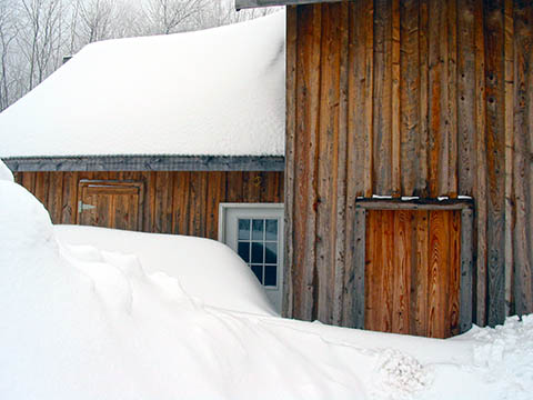 The Guy Cooks Barn Studio After Lake Effect Snow